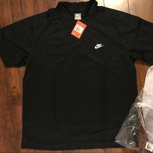 Black Dri-fit Nike Golf Shirt NWT
